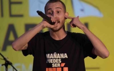 Elgio, durant una actuació a Sabadell | Roger Benet