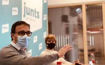 Josep Rius i Lourdes Ciuró, en l'acte d'avui | Cedida