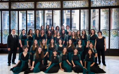 El Cor de Noies de l'Orfeó Català, que actua amb l'OSV   Cedida