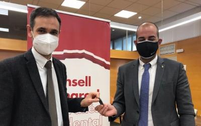 El president del Consell Comarcal, Ignasi Giménez, i el diputat d'Acció Climàtica, Xesco Gomar | Cedida