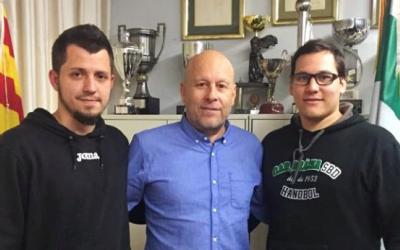 Borrell (esquerra) i Gomis (dreta) presentats com a tècnics graciencs el novembre del 2018 | OAR
