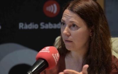 La Síndica, als estudis de Ràdio Sabadell, en una imatge d'arxiu/ Roger Benet