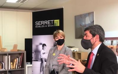 Canadell i Ciuró, en una visita a empresaris del Gremi de la Fusta de Sabadell