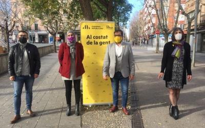 Els candidats d'ERC a la plaça de La Creu de Barberà | Ràdio Sabadell