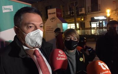 Sàmper amb Lourdes Ciuró a la plaça de les Dones del Tèxtil   Ràdio Sabadell