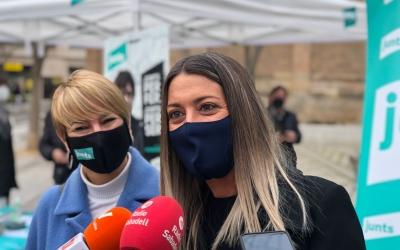 Lourdes Ciuró i Míriam Nogueras aquest matí | Cedida