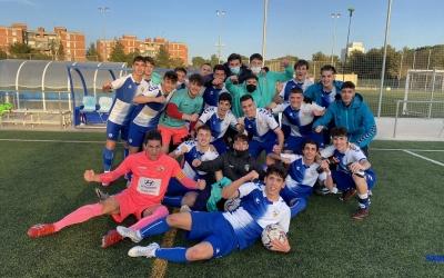 Felicitat en el vestidor arlequinat després de la maneta endossada a l'Stadium Casablanca | CESabadell