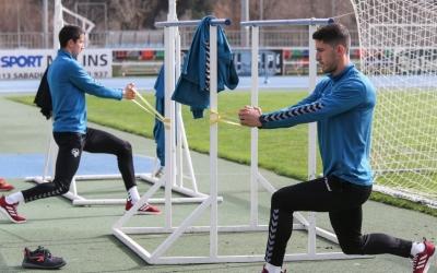 Aleix Coch i Pedro Capó ja fa dies que s'exerciten al marge | CE Sabadell