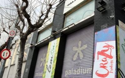 Exterior de la discoteca Paladium, tancada des de fa dos anys/ ACN