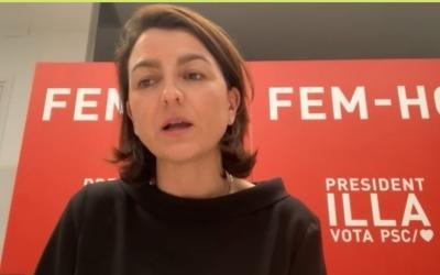 Eva Granados, en el primer acte digital de campanya del PSC de Sabadell | Cedida