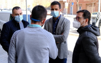 Pol Gibert, durant la seva visita a Polinyà/ Cedida PSC