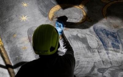 Detall de la restauració de la Salut/ Acadèmia de Belles Arts