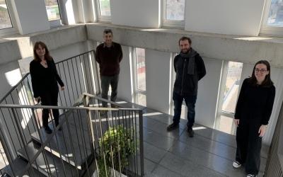 L'equip que duu a terme la recerca en la UAB. D'esquerra a dreta, els doctors Assumpció Bosch, Miguel Chillón i Juan Francisco Espinosa  i Laura Rodríguez, investigadora predoctoral | Cedida