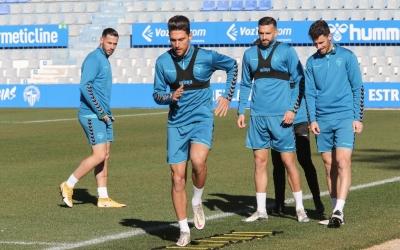 Entrenament d'aquesta setmana del Sabadell preparant el xoc davant Las Palmas | CES