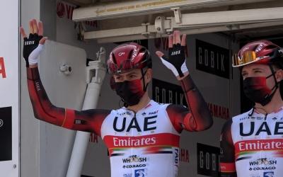 De la Cruz, durant la presentació del Team Emirates | Roger Benet
