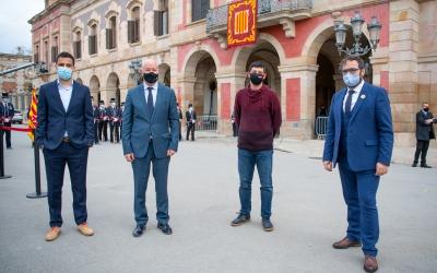 Gibert, García, Pellicer i Fernández el dia de la constitució de la cambra | Roger Benet
