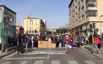 Un instant de la manifestació d'aquesta tarda | Ràdio Sabadell