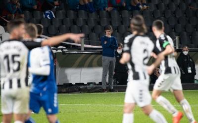 Hidalgo, pensatiu en el partit contra el Castellón de fa uns dies | Roger Benet