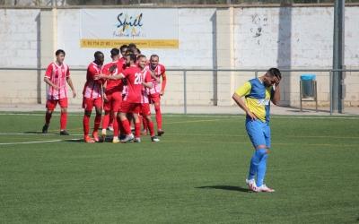 Celebració de gol del Llefià contra el Sabadell Nord en el xoc de la setmana passada| Adrián Arroyo