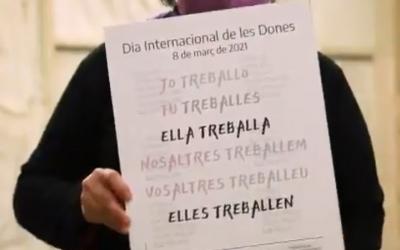 Captura del vídeo institucional del 8-M