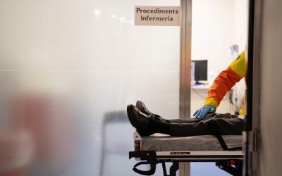 Un pacient a l'Hospital de Sabadell | Roger Benet