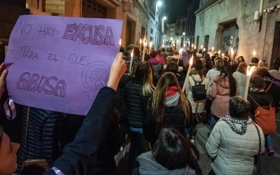 Una manifestació a Sabadell contra la violació múltiple de Can Feu/ Roger Benet