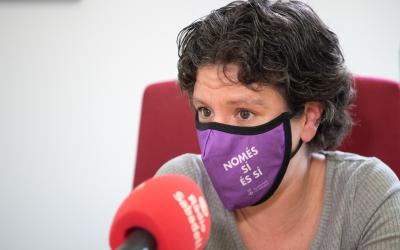 Marta Morell, durant una entrevista a Ràdio Sabadell/ Roger Benet