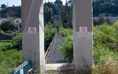 Passarel·les clausurades al Ripoll | Roger Benet