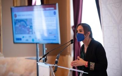 Marta Farrés, duran la presentació dels fons Next Generation/ Roger Benet
