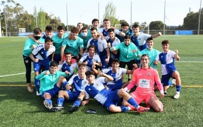 Foto d'equip de la victòria contra l'Espanyol | FutBaseCES