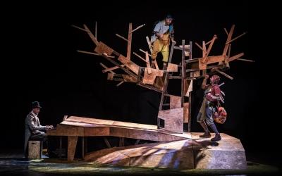 Una de les escenes de l'obra/ La Baldufa
