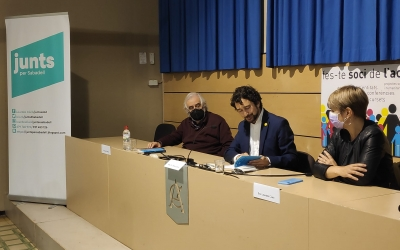 VicençVillatoro, Damià Calvet i Lourdes Ciuró a l'Acadèmia Catòlica | Pau Duran