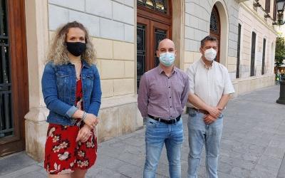 D'esquerra a dreta: Laura Casado, Adrián Hernández i José Luis Fernández | Núria García