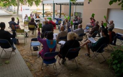Un moment de l'Assemblea a l'Escola Pau Vila | Cedida