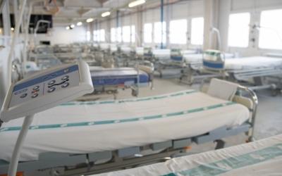 Els llits habilitats al Frontal Gran Via durant la pandèmia | Roger Benet