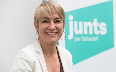 Lourdes Ciuró, en un acte aquest migdia/ Roger Benet