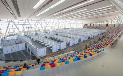La Pista Coberta d'Atletisme de Sabadell durant la pandèmia | Roger Benet