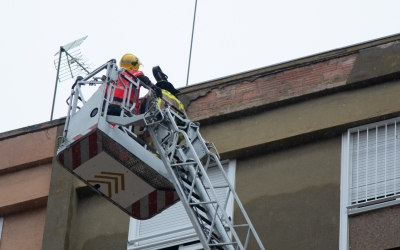 Els bombers fent l'actuació | Roger Benet