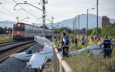 Imatges de l'aeronau accidentada a l'Aeroport de Sabadell | Ràdio Sabadell