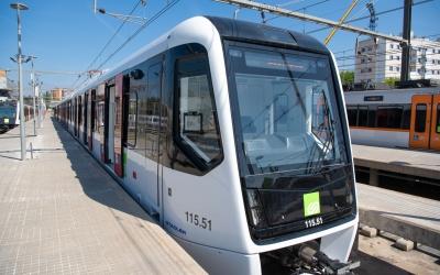 La primera unitat 115, que permetrà una freqüència de pas entre els trens de cinc minuts | Roger Benet