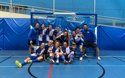 12 vegades en 12 jornades han pogut repetir aquesta imatge les integrants del FS Sabadell Femení | FS SBD F