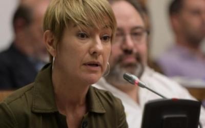 Lourdes Ciuró en una intervenció al Ple municipal | Roger Benet