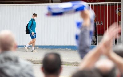 Imatge de l'anomenada #LaGranRebuda2 abans del xoc contra el Tenerife | Roger Benet