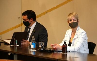 Xavier Bernadí i Lourdes Ciuró en la reunió del Consell Executiu | ACN