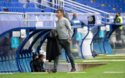 Després de perdre a Oviedo, Hidalgo ja tenia en ment el següent compromís contra el Tenerife | Roger Benet