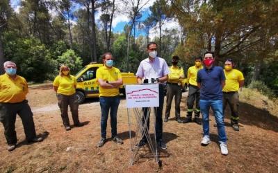 Giménez i membres de l'ADF Vallès ahir a Castellar | Consell Comarcal