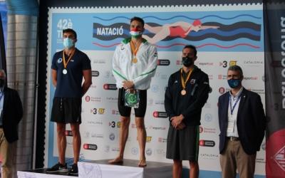 De Celis, a l'esquerra amb la medalla de plata | CN Sant Andreu
