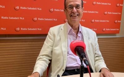 Josep Suàrez durant una entrevista a Ràdio Sabadell | Arxiu