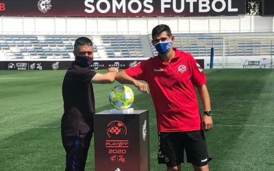 Garcia Pimienta i Hidalgo, abans de la final del 'playoff' a Marbella | Adrián Arroyo
