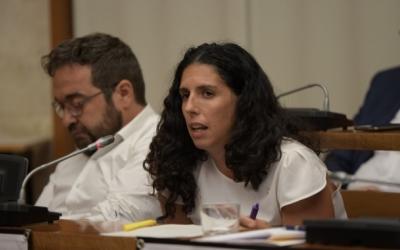 Èlia Soriano-Costa, en una imatge del ple municipal | Roger Benet